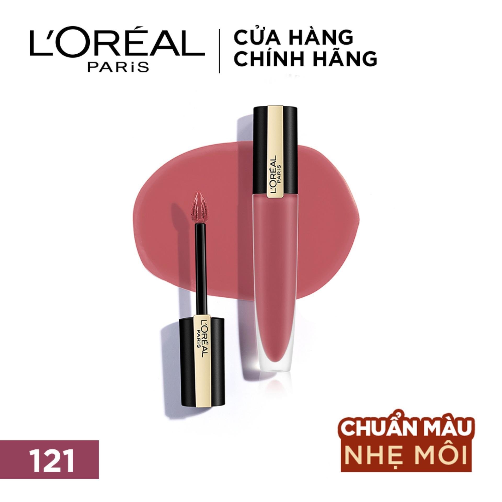 Son tint mịn lì cao cấp L'Oréal Paris Rouge Signature 7ml