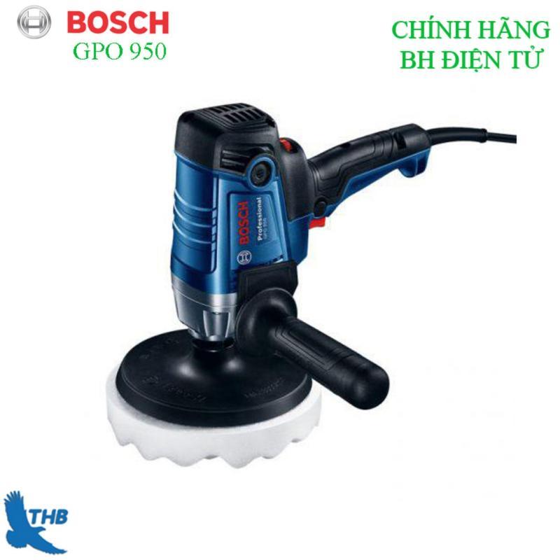 Máy đánh bóng, máy chà bóng, Máy đánh bóng oto Bosch chính hãng GPO 950 ( Công suất 950W, đá đánh bóng 180mm bảo hành điện tử 06 tháng)