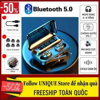 Tai nghe bluetooth không dây AMOI f9 phiên bản thế hệ 10 đẳng cấp âm thanh 5.0 màn hình LED hiển thị dung lượng pin, có đế sạc dự phòng - Tai nghe bluetooth không dây nhét tai Amoi f9-10 thumbnail