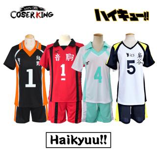 COSER KING Haikyuu Shoyo Hinata kageyama tobio Cosplay Costume Anime Cartoon Aoba Johsai Oikawa Tooru Cosplay Costume School Uniform Cosplay Volleyball Team Sportswear thumbnail