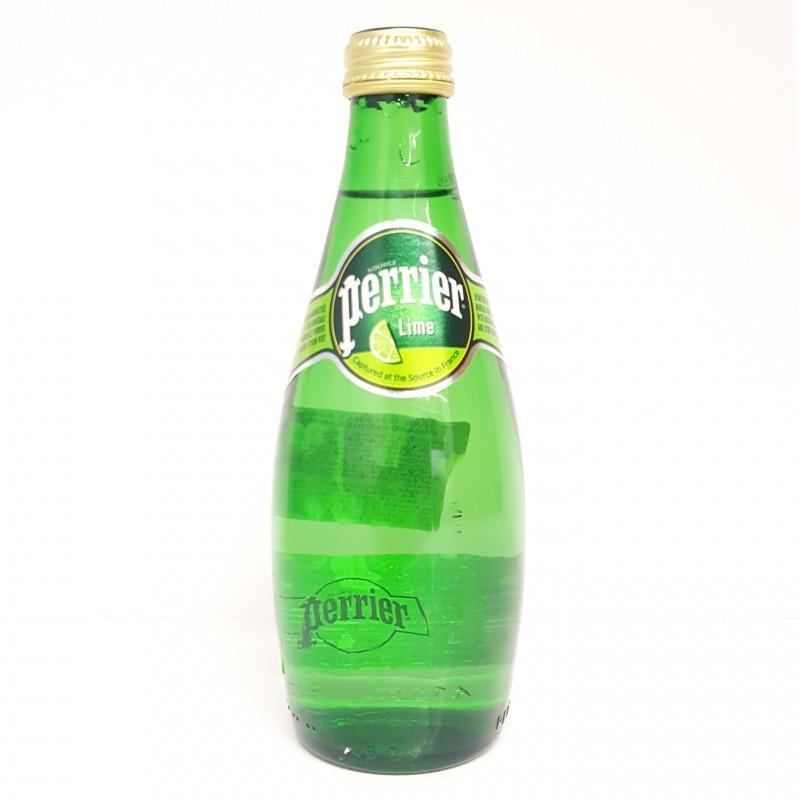 Nước khoáng thiên nhiên Perrier hương chanh xanh chai 330ml
