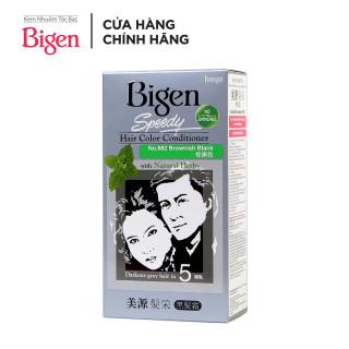 Thuốc nhuộm tóc phủ bạc dạng kem Bigen Speedy Hair Color Conditioner 80ml thumbnail