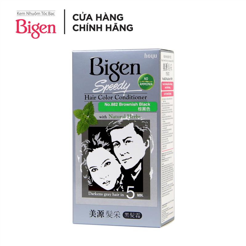 Thuốc nhuộm tóc phủ bạc dạng kem Bigen Speedy Hair Color Conditioner 80ml giá rẻ