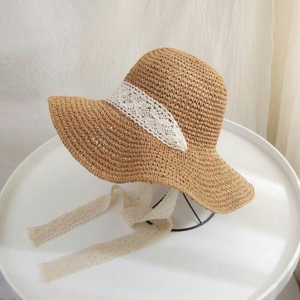 Giá bán Nón cói, mũ cói mềm móc tay dây ren buộc cổ