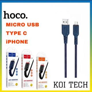 Dây sạc bọc dù micro type iphone hoco uc59 - cáp sạc bọc dù hoco uc59 thumbnail