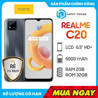 Điện thoại Realme C20 (2GB/32GB)- Hàng chính hãng, mới 100%, Nguyên Seal, Bảo hành 12 tháng
