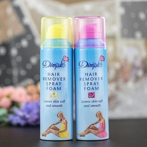 Xịt Triệt Lông Hương Chanh Dimples 200ml Hair Removal Spray Foam