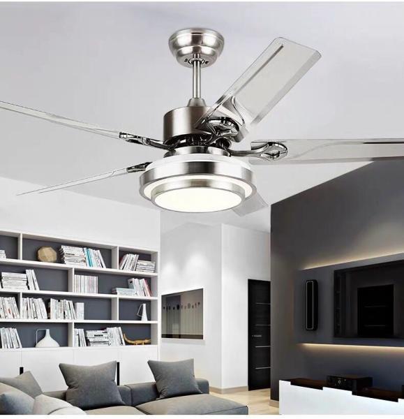 Quạt trần đèn led cao cấp F52I, 132cm, điều khiển, hẹn giờ