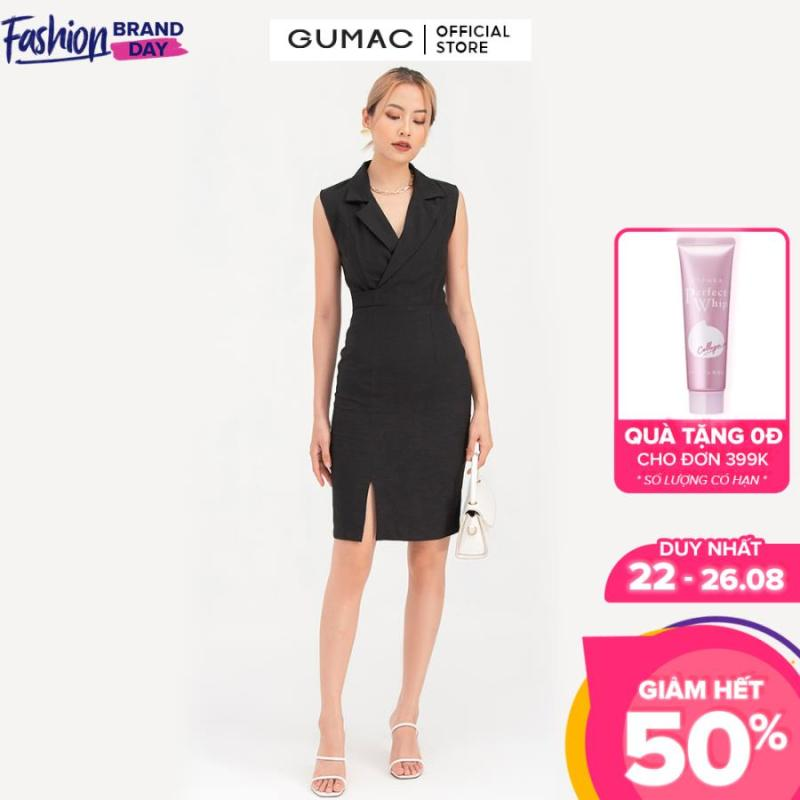 Nơi bán Đầm nữ  sát nách cổ vest DB742 mẫu mới GUMAC