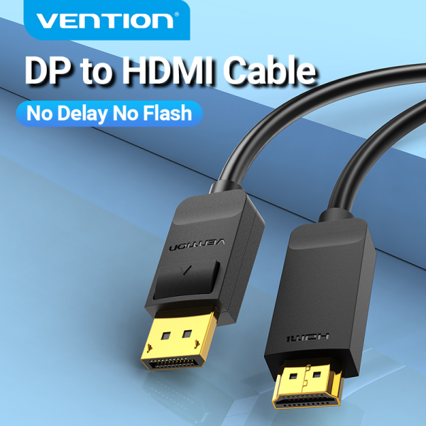 Bảng giá Vention Cáp DP to HDMI 4K DisplayPort Male To HDMI Male Cable Audio and Video in Sync For Computer To TV Laptop and Monitor Projector DP To HDMI Cable Phong Vũ