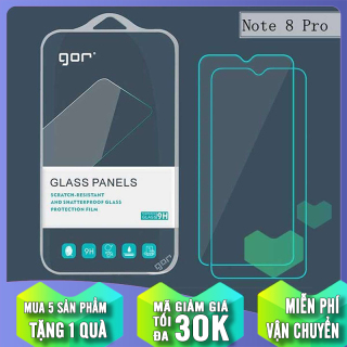 Bộ 2 miếng kính cường lực Gor cho Xiaomi Redmi Note 8 Pro - Full Box thumbnail