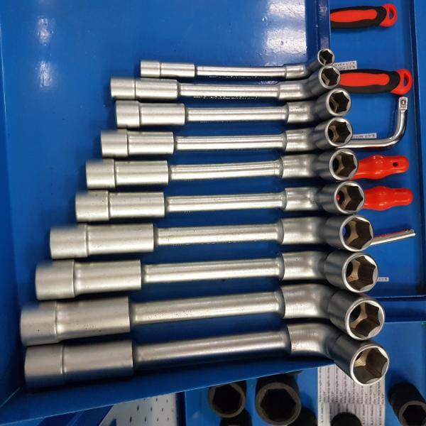 Bộ Tay Vặn Chữ L 8 chi tiết từ 11mm - 19mm hãng Kouritsu Nhật Bản (Cần tuýp điếu)