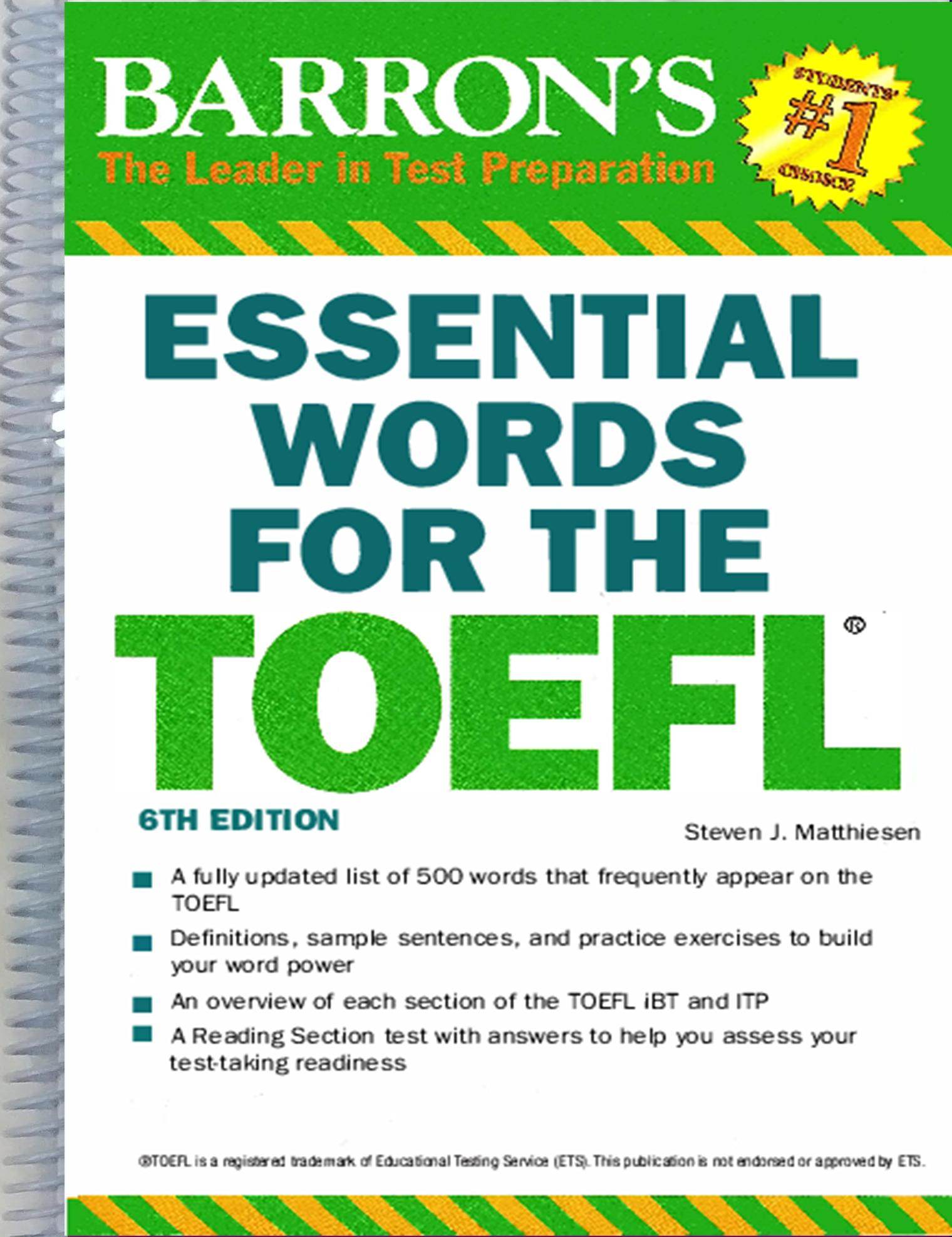 Essential Words for the TOEFL, 6th