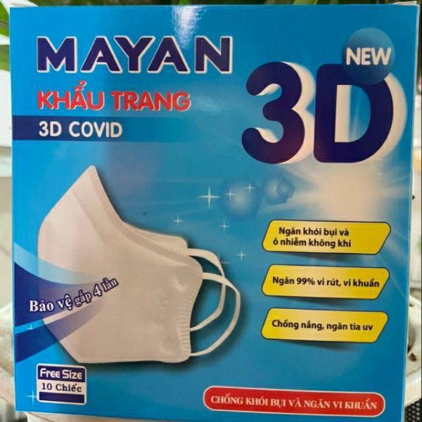 Giá bán COMBO 3 HỘP MÀU TRẮNG Khẩu trang người lớn cao cấp MAYAN PM2.5 3D MASK
