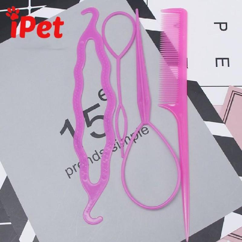 Bộ 4 Dụng Cụ Làm Tóc Cho Bạn Nữ - iPet Shop cao cấp
