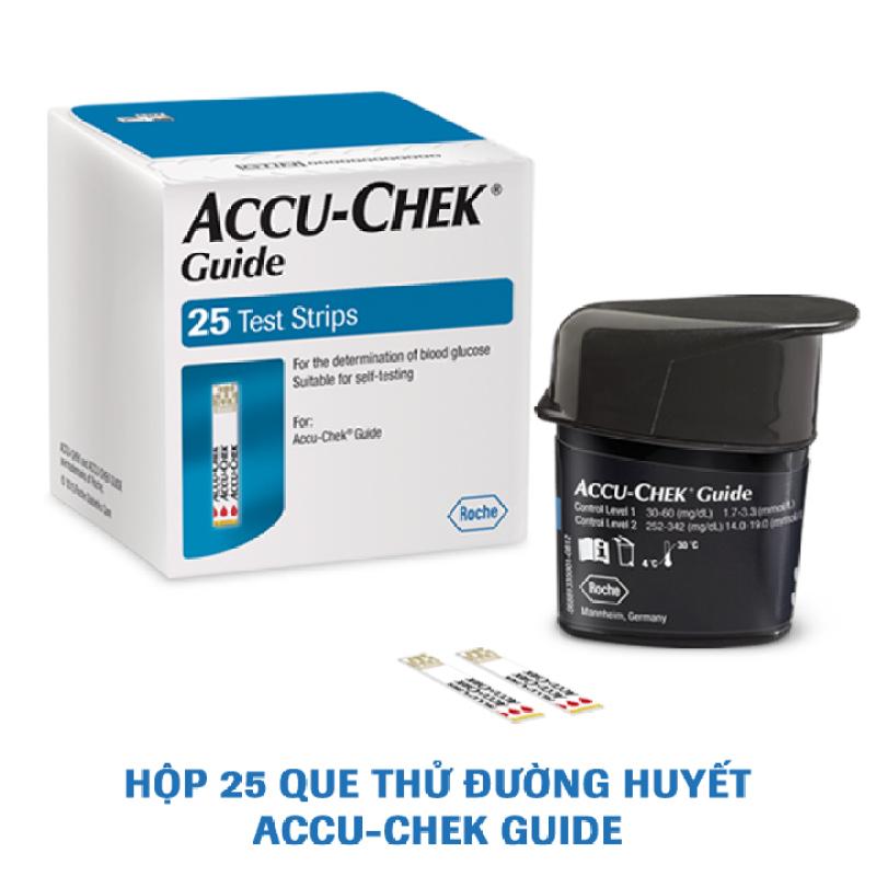 Que thử đường huyết Accu-Chek Guide. Hộp 25 que