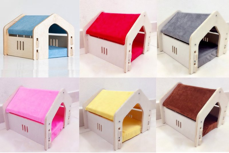 Nhà ngủ ấm sKY có nệm cho chó mèo dành cho chó mèo dưới 6Kg