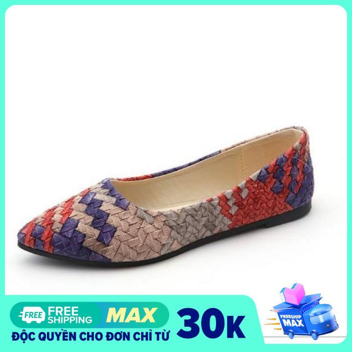 [OD16] Giày bệt búp bê nữ đế bằng da mềm phối màu cực xinh hàng QC cao cấp - Kèm hình thật