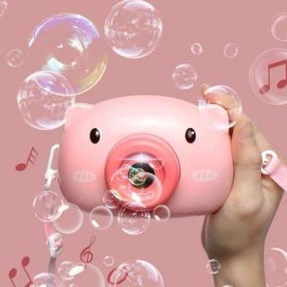 Máy ảnh thổi bong bóng xà phòng quà tặng dễ thương cho bé - may anh thoi bong bong, máy thổi bong bóng heo hồng 1
