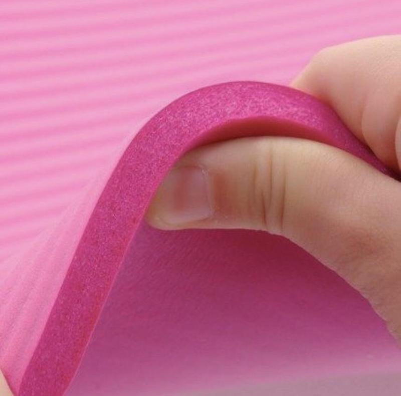 Thảm yoga vân sọc dày 10mm kèm quà tặng quai đeo và túi đựng thảm