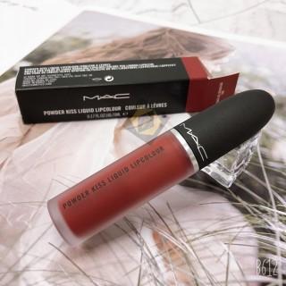 Son Kem lì MAC 991- Đỏ Gạch Powder Kiss Liquid - lên chuẩn, mịn và siêu dễ tán - Hơ p vơ i mo i tông da thumbnail