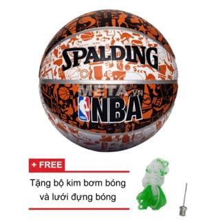 Qủa Bóng Rổ Spalding NBA Graffiti Outdoor Size 7 Da Pu Cao Cấp (Đạt Chuẩn Thi Đấu) + Tặng Kim Bơm thumbnail