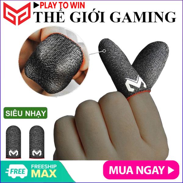 Bao tay chơi gane điện thoại MEMO GT2 (Bản cao cấp) siêu mỏng cảm giác thật, logo nổi, vải sợi carbon siêu bền chống giãn xù tăng cường cảm ứng chạm, chống mồ hôi dành cho game PUBG Tốc Chiến Freefire Liên Quân mobile