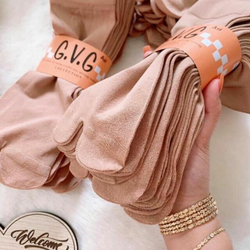 Combo 10 Đôi Vớ Nữ Xỏ Ngón Chất Liệu Vải Cotton Co Giản Thoải Mái Mềm Mại ( Màu Vàng Lạc Đà) Thích Hợp Mọi Loại Giày nhập khẩu