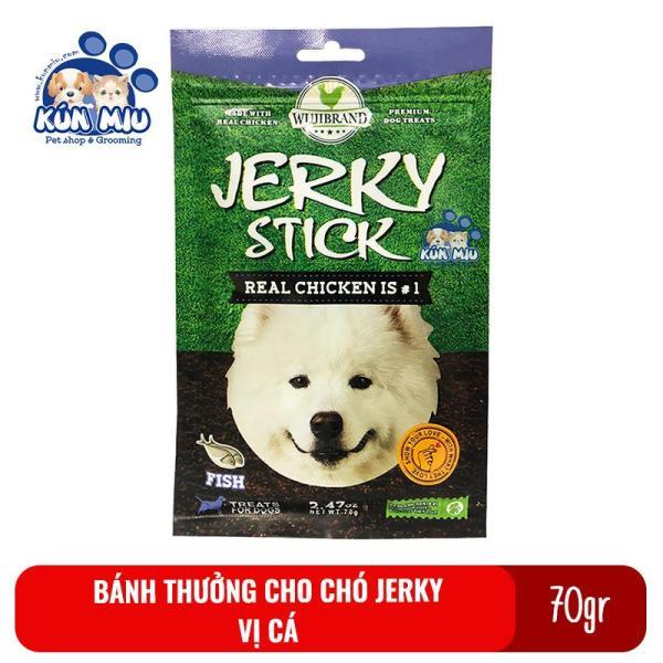 Bánh thưởng cho chó Jerky 70gr Vị cá