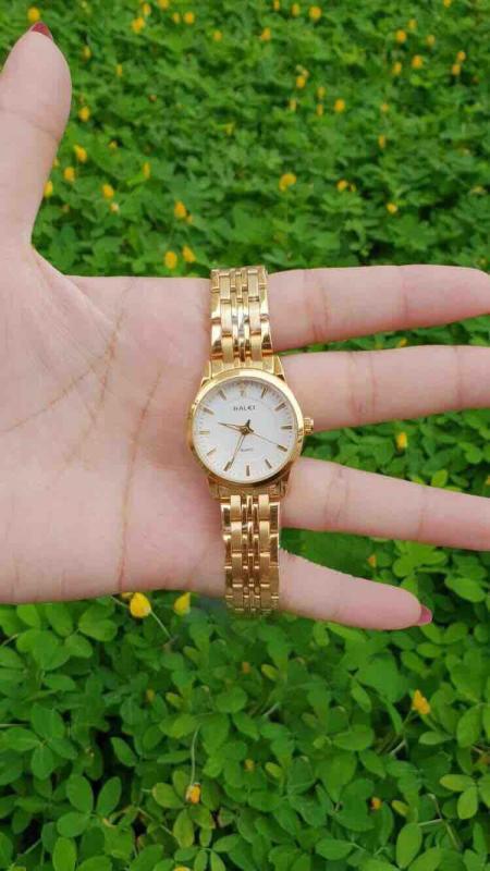 Đồng hồ nữ ,dây mạ vàng cao cấp hl01000hei