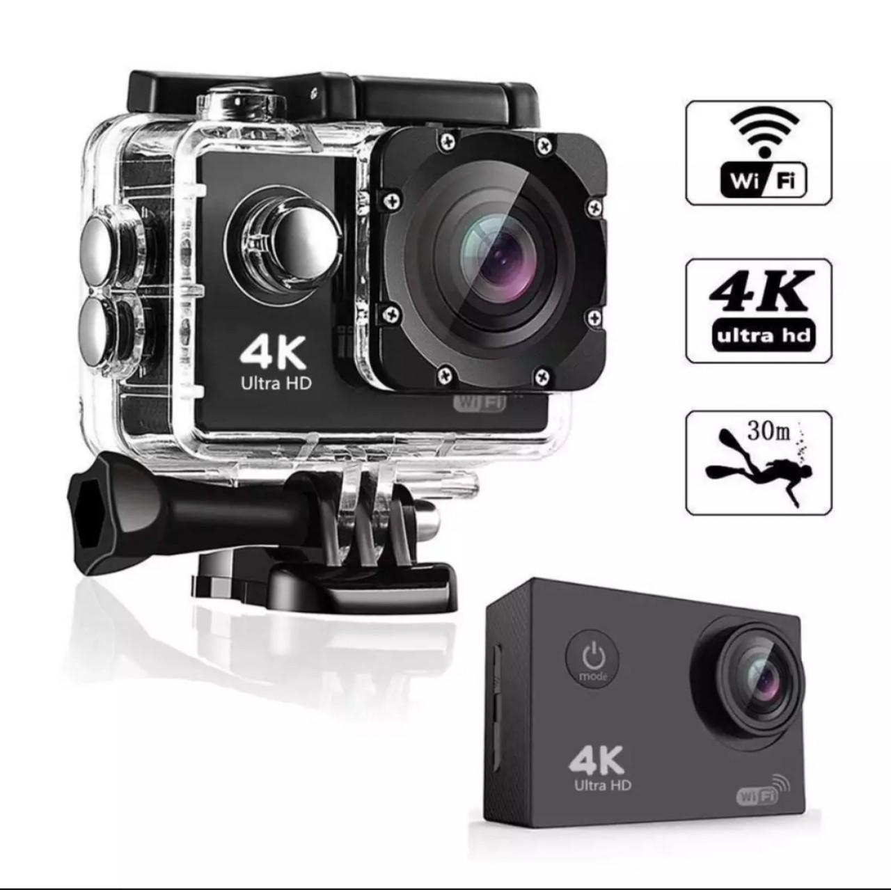 Camera hành trình chống nước 4K SPORT Ultra HD DV, kết nối WF bằng phần mềm ( Goplus Cam), góc quay 170 độ, bảo  hành 1 đổi 1 Nhật Bản