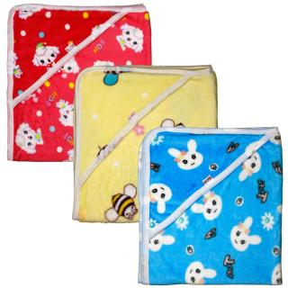 Combo 3 Chăn ủ nhung tuyết có mũ cực mềm, mịn, an toàn và giữ ấm cho bé sơ sinh - KIBA_Shop (chăn ủ sơ sinh, chăn ủ mùa đông, đồ cho bé sơ sinh) 3CUT thumbnail