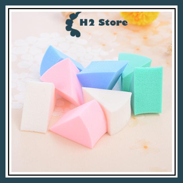 Set bông trang điểm dạng tam giác giá rẻ 8 miếng tiện lợi sử dụng khô và ướt