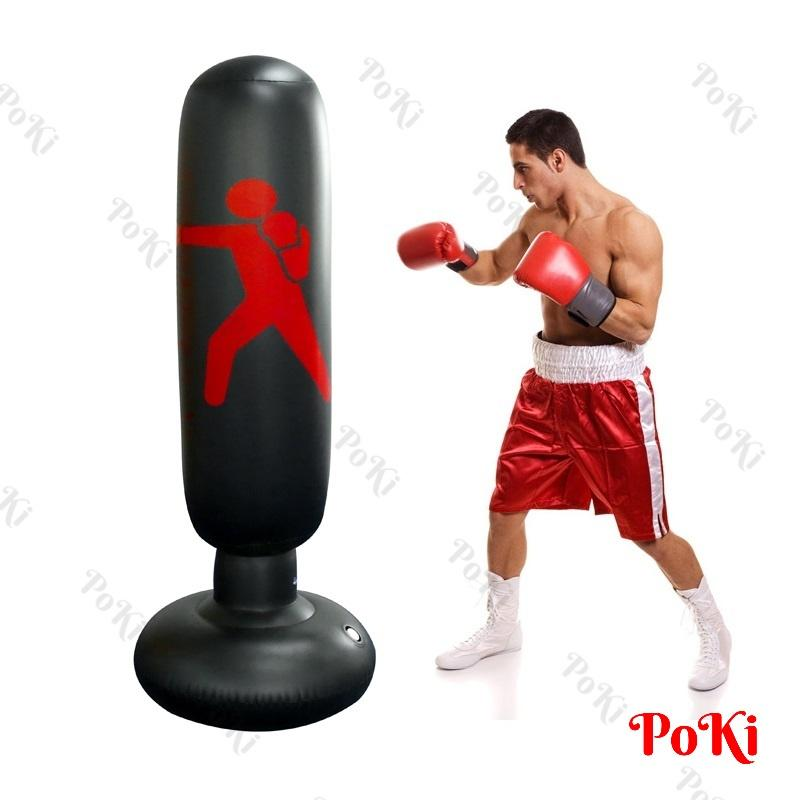 Bao Tập đấm Boxing D27 BƠM HƠI 1.6m, Bao Tập Võ PVC Tự Cân Bằng Cao Cấp - POKI Siêu Ưu Đãi tại Lazada