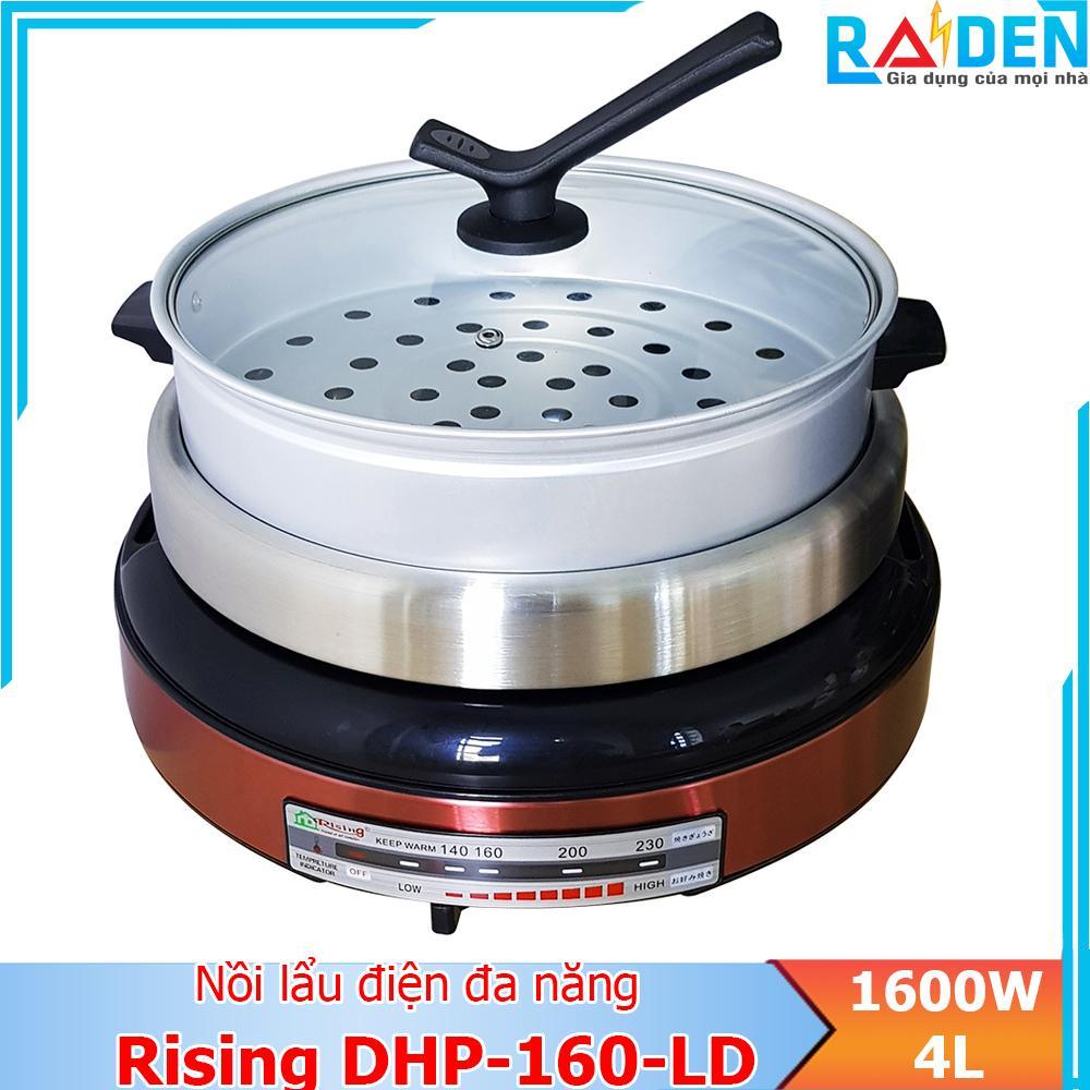 Nồi lẩu điện đa năng 1600W, dung tích 4L Rising DHP-160-LD