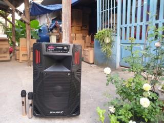 [HCM]Loa Kéo Karaoke Di Động Bluetooth Ronamax F12 (300W) - 3 Tấc 2 Mic Đi Kèm Vỏ Nhựa ABS - Bảo Hành 6 Tháng thumbnail
