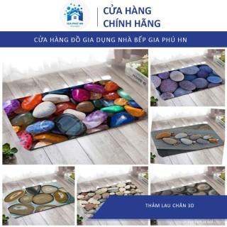 Thảm Chùi Chân 3D, Thảm lau chân 40x60cm HÀNG DÀY DẶN KHÂU VIỀN thumbnail