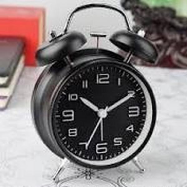 Nơi bán Đồng hồ báo thức 2 quả chuông kèm đèn kiểu cổ điển để bàn tiện lợi-mầu đen loại to, chất lượng đảm bảo an toàn đến sức khỏe người sử dụng, cam kết hàng đúng mô tả