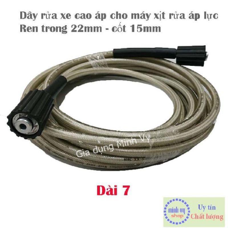 Dây cao áp máy rửa xe 7m- ren trong 22mm - Gia Dụng Minh Vy phụ kiện chuyên dành cho xe ô tô