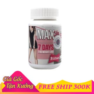 Viên uống khử mỡ giảm cân Max 7 day thái lan hũ 30 viên giành cho cơ địa khó thumbnail