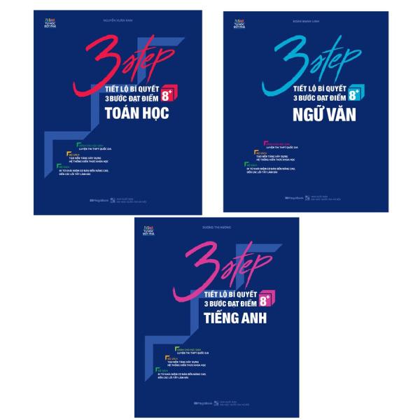 Mua Sách 3 Step Khối D – Tiết lộ bí quyết 3 bước đạt điểm 8+ Toán Văn Anh