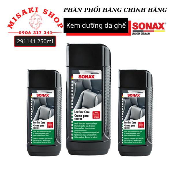 [HCM]Kem Bảo Vệ Da 291141 250ml Leather Care Lotion  | Sonax Chính Hãng | Misaki Shop