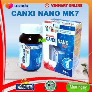 Viên Uống Bổ Sung Canxi, Vitamin D3, AQuamin Canxi MK7 Giup Phát triển chiêu cao ở trẻ, giảm loãng xương ở người lớn - Hộp 60 viên sử dụng cho trẻ em trên 6 tuổi, người lớn, phụ nữ có thai và đang cho con bú - Vitamin D3, AQuamin Canxi MK7 thumbnail