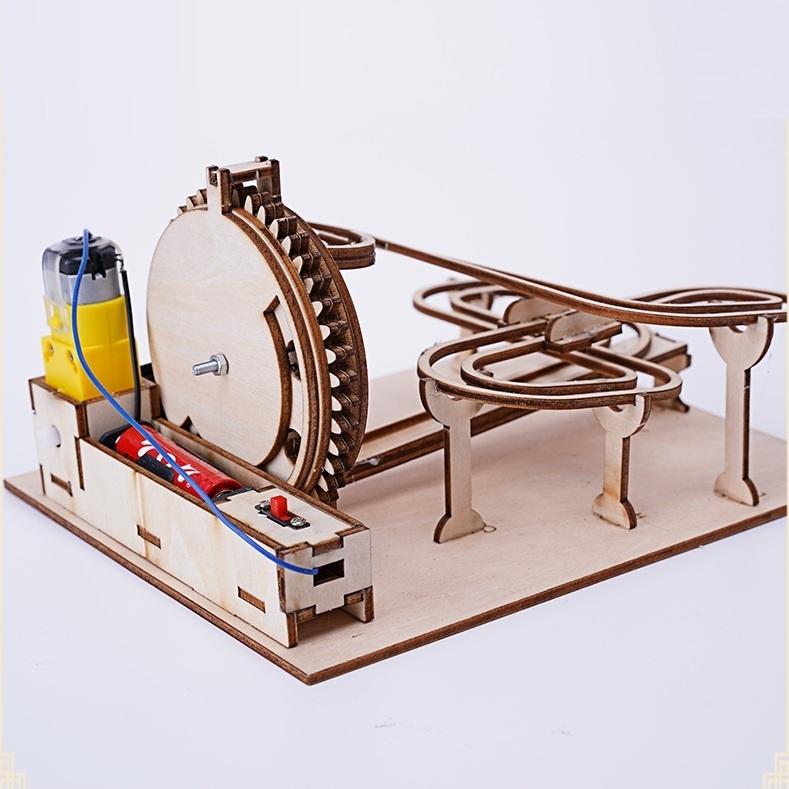 Mô Hình Truyền động Bánh Răng 3D Hình đường đua Chạy Bằng Pin LG02 Giá Sốc Nên Mua