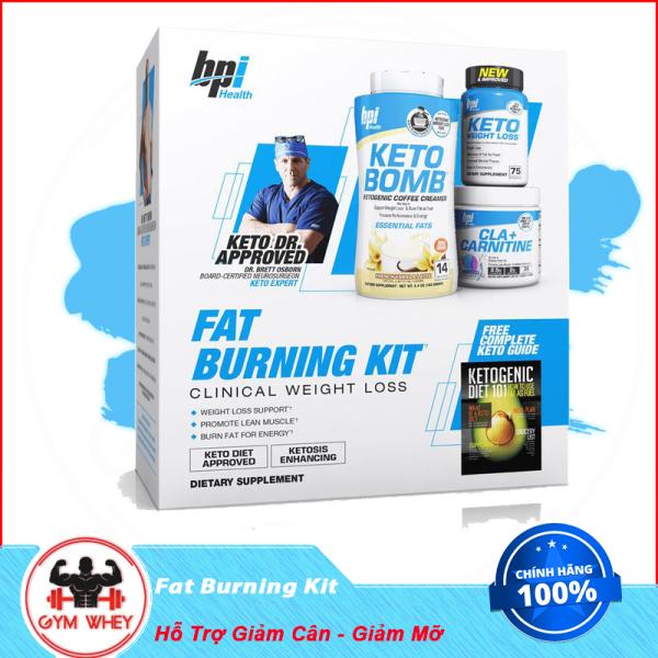 Bộ Sản Phẩm Hỗ Trợ Giảm Cân Giảm Mỡ Bpi Sport Fat Burning Kit Gồm Keto Bomb, Keto Weight Loss Và Cla + Carnitine giá rẻ