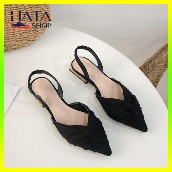 Giày búp bê nữ đẹp xoắn mũi nhọn chất liệu da lộn Hàn Quốc cực xinh, hài nữ, sandal nữ bít mũi 2020 mang đi chơi, đi học, đi làm giá rẻ