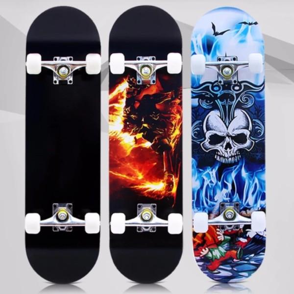 Ván Trượt Skateboard, Ván Trượt Dài Thể Thao Cỡ Lớn Đạt Chuẩn Thi Đấu (Mặt Nhám + Bánh Cao Su) Loại Bền Rất An Toàn.