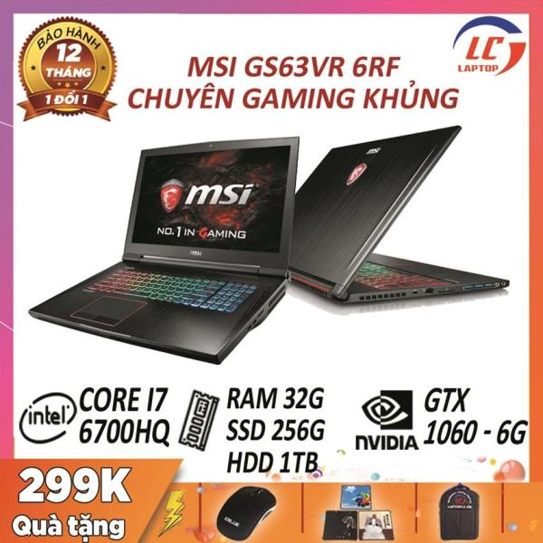 Bảng giá Laptop game MSI GS63VR 6RF Stealth Pro core i7-6700HQ - card rời Nvidia GTX 1060- 6G, màn 15.6 FullHD IPS mỏng nhẹ, laptop game Phong Vũ