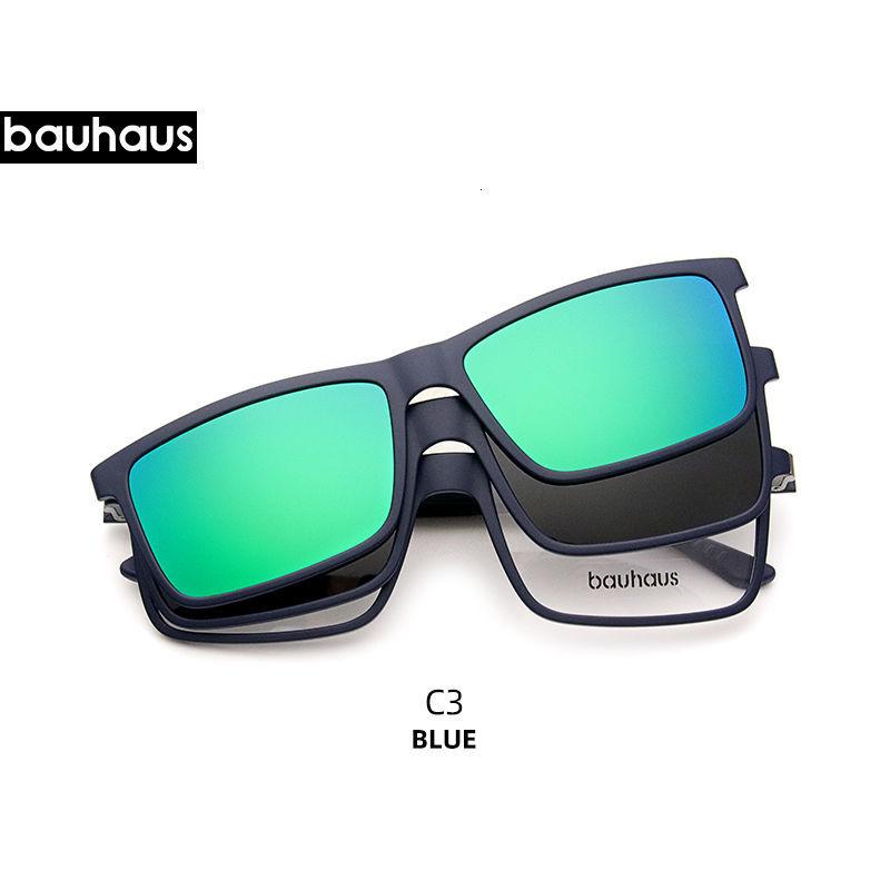Giá bán X3178 Bauhaus Mới 2 Trong 1 Cực Nam Châm Chất Lượng Cao Clip Trên Kính Mát Bán Bán giỏi nhấthjhg