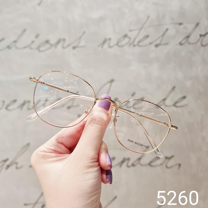 Giá bán Gọng kính kim loại nữ mắt vuông Lilyeyewear 5260 nhẹ nhàng thanh mảnh giúp người đeo thoải mái phù hợp với nhiều khuôn mặt  gọng kính có nhiều màu một size